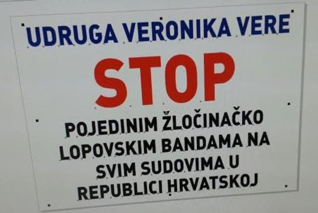 Udruga Veronika Vere - borba protiv korupcije u pravosuđu, za bolje pravosuđe i za pravnu državu