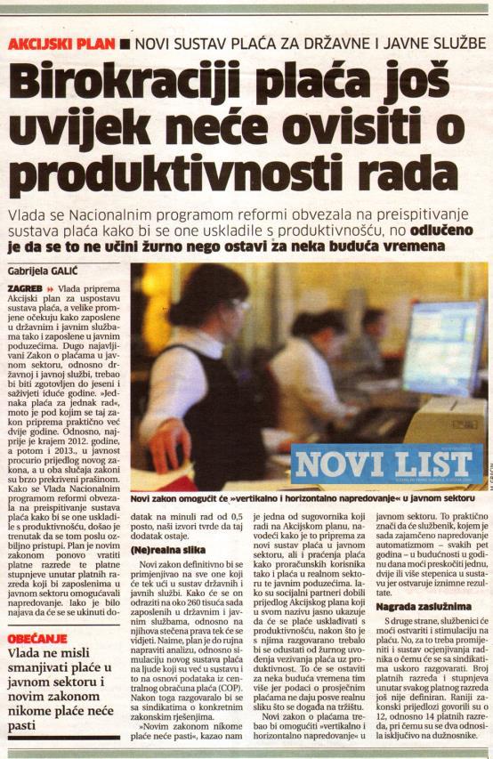 Zakon o plaćama u javnim službama u najavi za jesen_vijesti od 22.07.2015.
