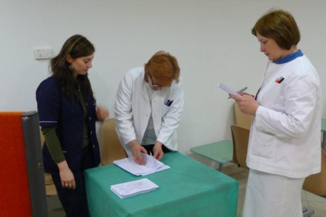Jedno od biračkih mjesta KBC Zagreb_IZBORI 2010.