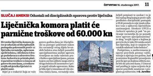 HLK mora platiti 60000 kn sudskih troškova