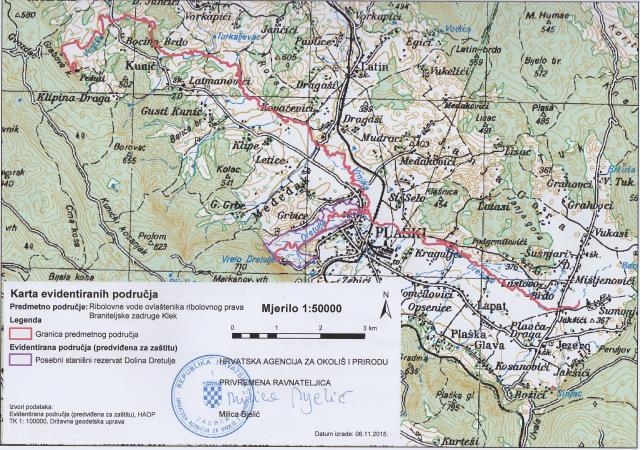 Karta ribolovne zone