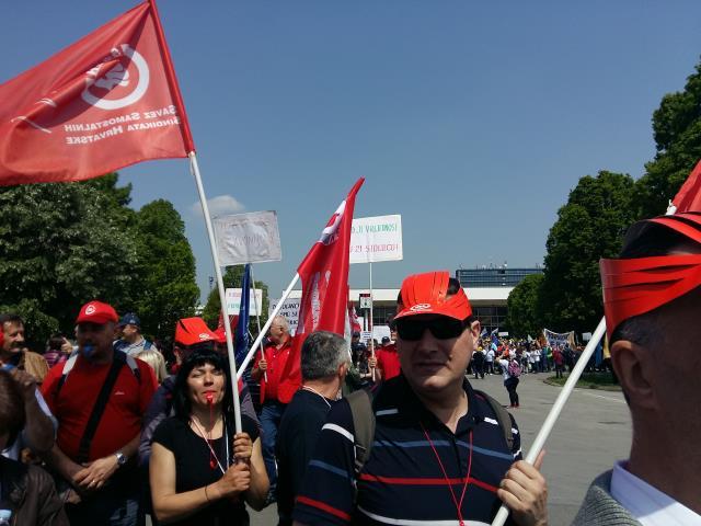 Prosvjed u Sl. Brodu_1. svibanj