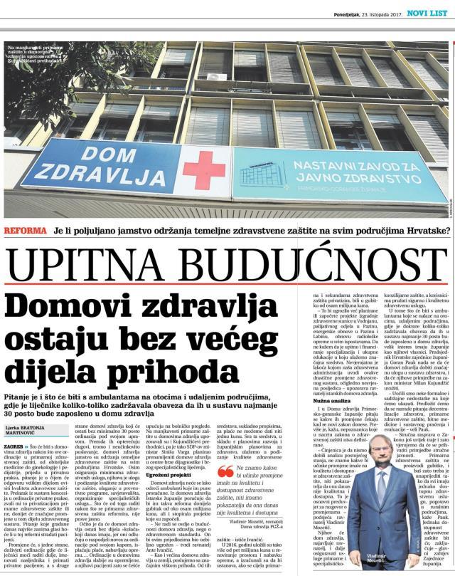 Privatizacija Domova zdravlja_listopad 2017.