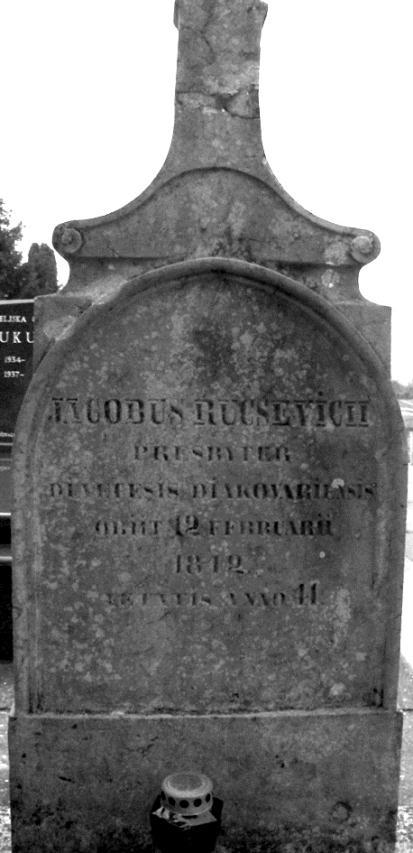Grob Jakoba Ručevića najstariji je sačuvani grob na groblju u Starim Mikanovcima.