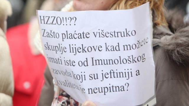 Prosvjedi za spas Imunološkog zavoda