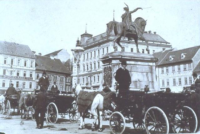 Zagreb, Trg bana Jelačića, oko 1890.
