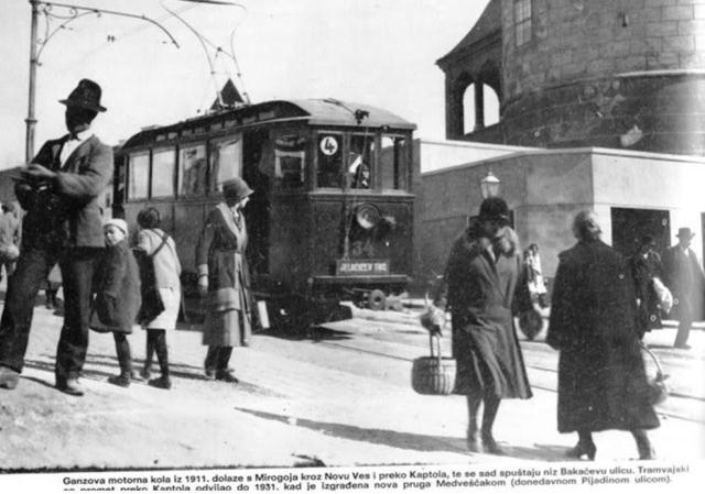 Zagreb, 1911. kada je izgrađena nova pruga prema Medvešćaku