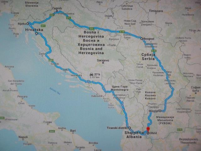 plan puta na karti