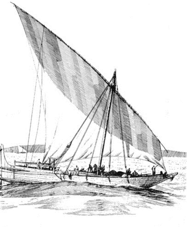 OCEAN GOING DHOW IN THE INDIAN SEA