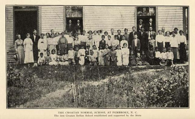 Prva škola Croatan Indijanaca u Pembrokeu u Sjevernoj Karolini, SAD