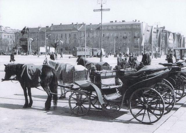 Zagreb - Glavni koldovor - Fijakeri - oko 1880. godine