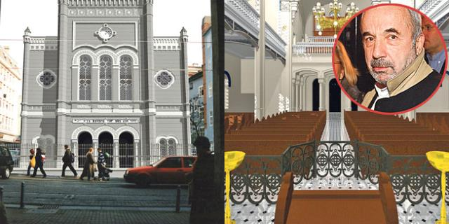 Zagrebačka sinagoga - simulacija nacrta