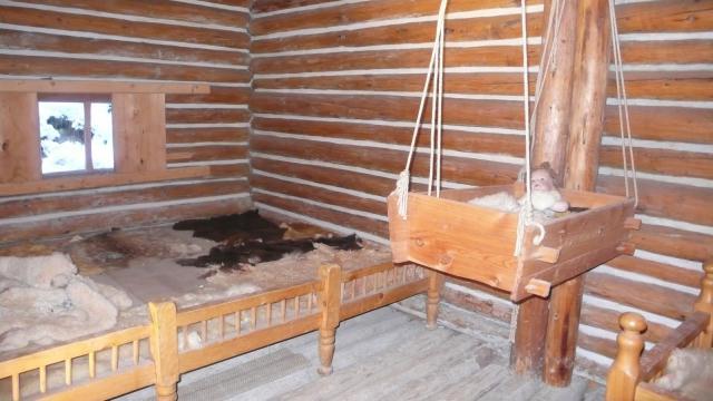 muzejski prikaz keltskih običaja i načina života - spavaća soba