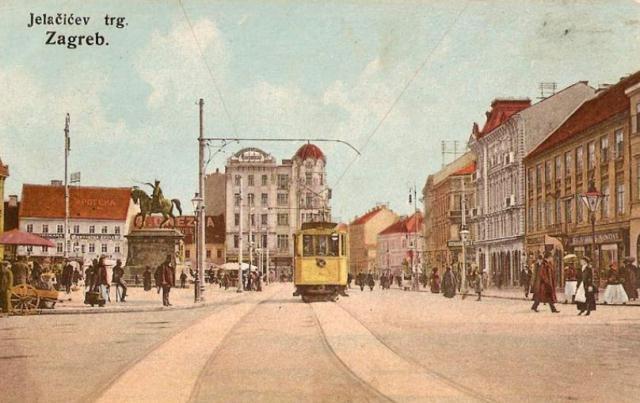 Zagreb, Trg bana Josipa Jelačića, kraj 19. st.