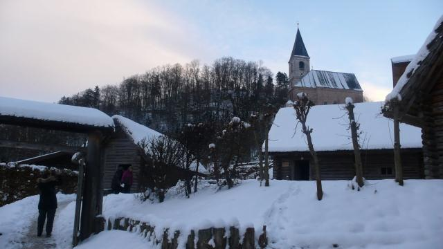 staro keltsko selo kraj rudnika soli pokraj Salzburga