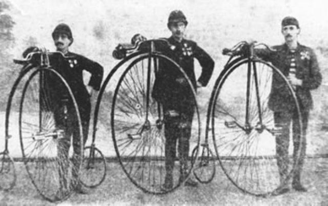 Zagrebački biciklisti u Trstu, kraj 19. st.