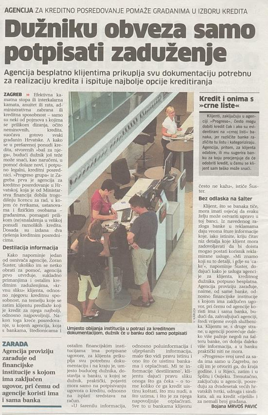 iz novina o Progreso grupi ....