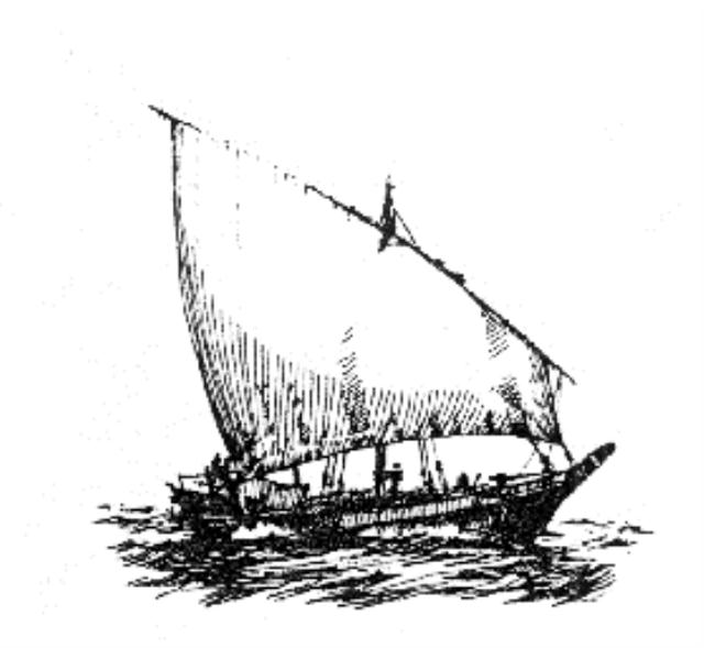 THE ARAB, LATEEN OR SETTEE SAIL, ARAPSKO, LATINSKO ILI OGLAVNO IDRO