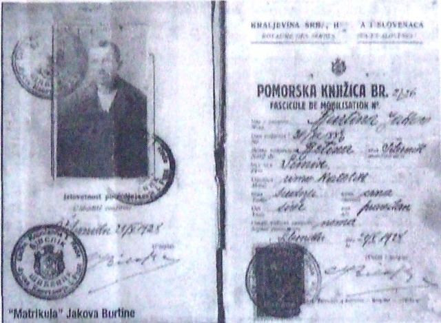 MATRIKULA  JAKOVA BURTINE - GAŠPARA