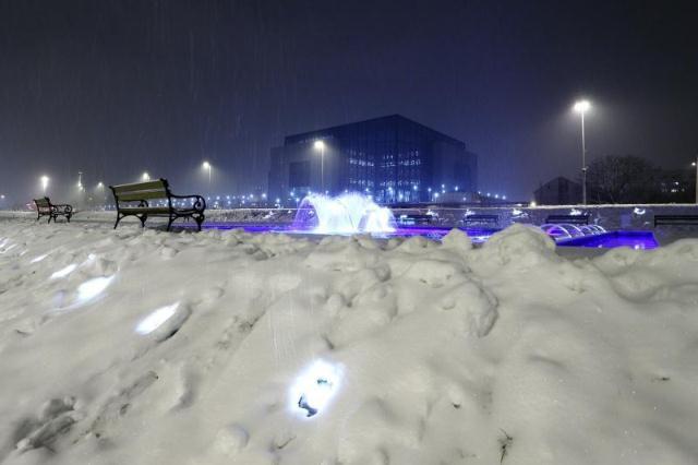 Bandićeve fontane, zima 2014.