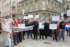 Prosvjed Udruge Veronika Vere zbog korupcije u pravosuđu
